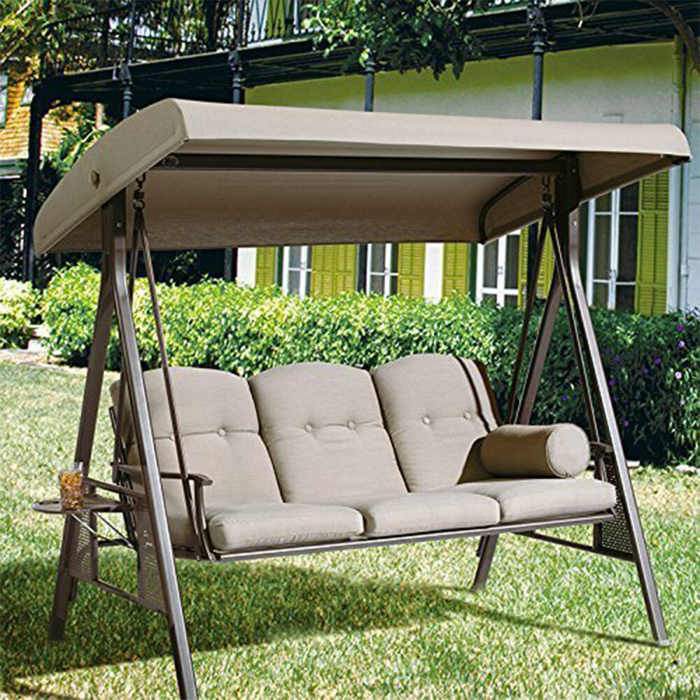 red barrel studio rohrbaugh 3 seat outdoor porch swing with stand rh wayfair com outdoor patio swing sets outdoor patio swing cover