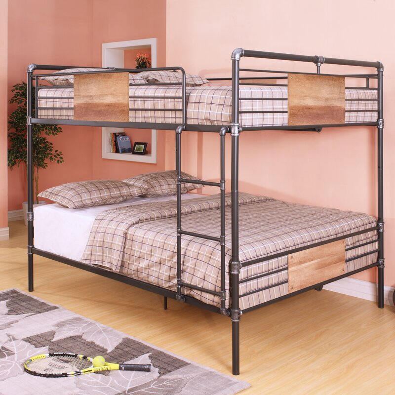 Harriet Bee Eloy Queen Over Queen Bunk Bed & Reviews | Wayfair
