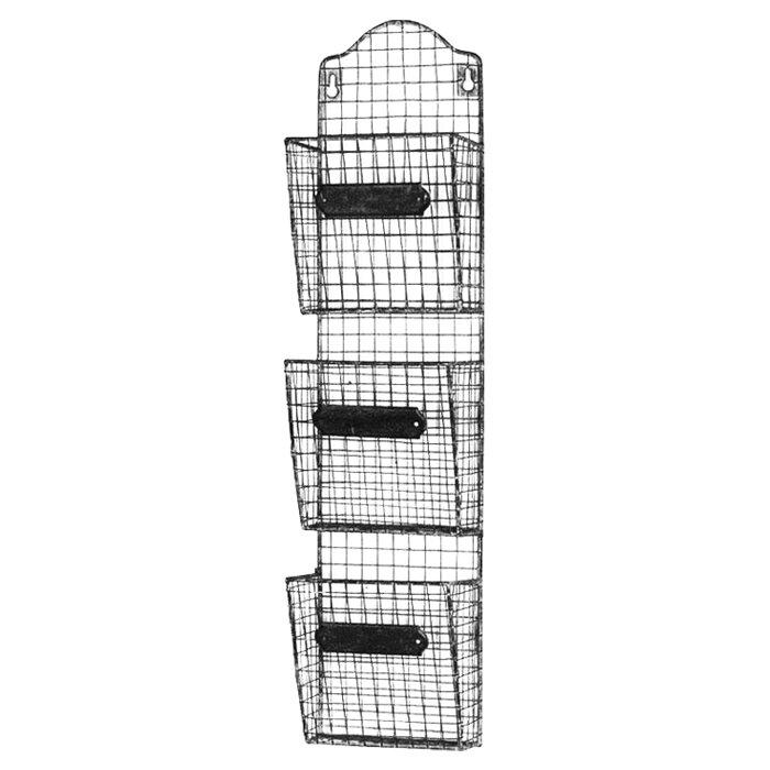 Alicia Iron Basket Wall Storage