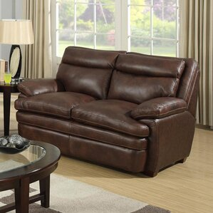 Clarkston Leather Reclining Loveseat by At Home Designs