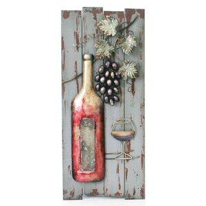 Bottle on Board Wall Decor
