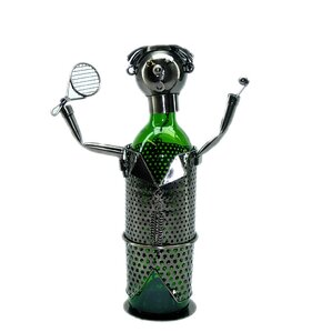 Tennis Player 1 Bottle Tabletop Wine Rack by Three Star Im/Ex Inc.