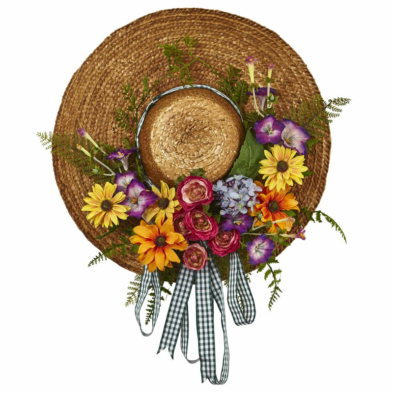 Nearly Natural Mixed Flower Hat 18