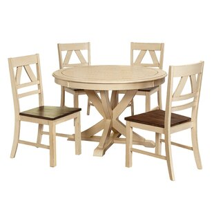 sandersville 5 piece dining set - White Round Dining Room Table