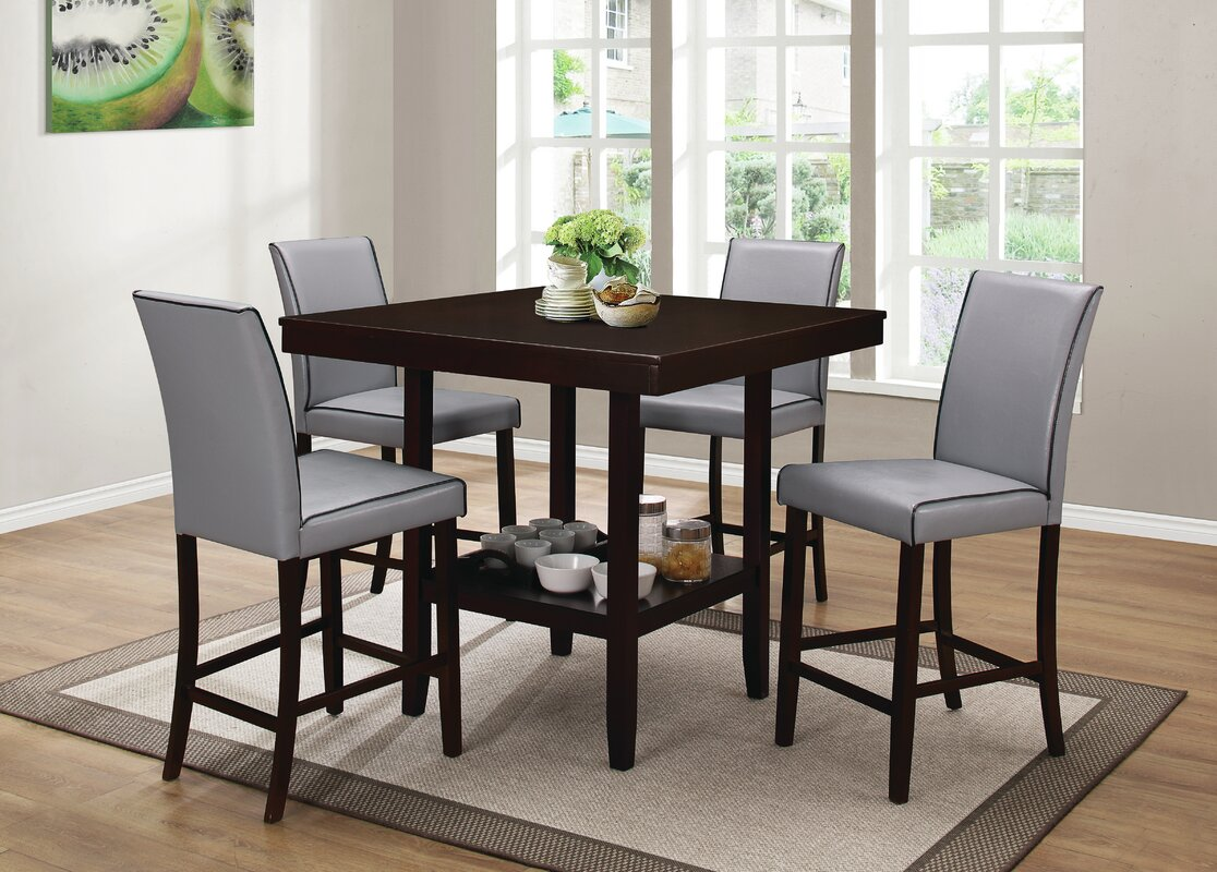 Mckee 5 Piece Counter Height Dining Set & Reviews | Birch Lane