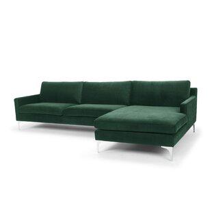 Modern & Contemporary Emerald Green Sectional | AllModern