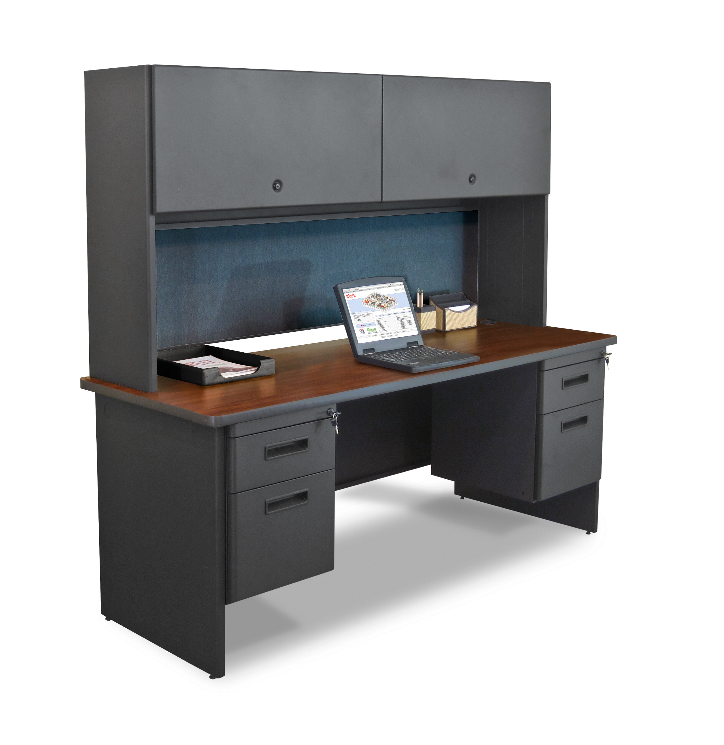 Marvel Office Furniture To Flipper Door Cabinet And Lock Computer Desk With Hutch Wayfair