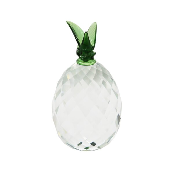 Bay Isle Home Hereford Decorative Crystal Pineapple Sculpture Wayfair
