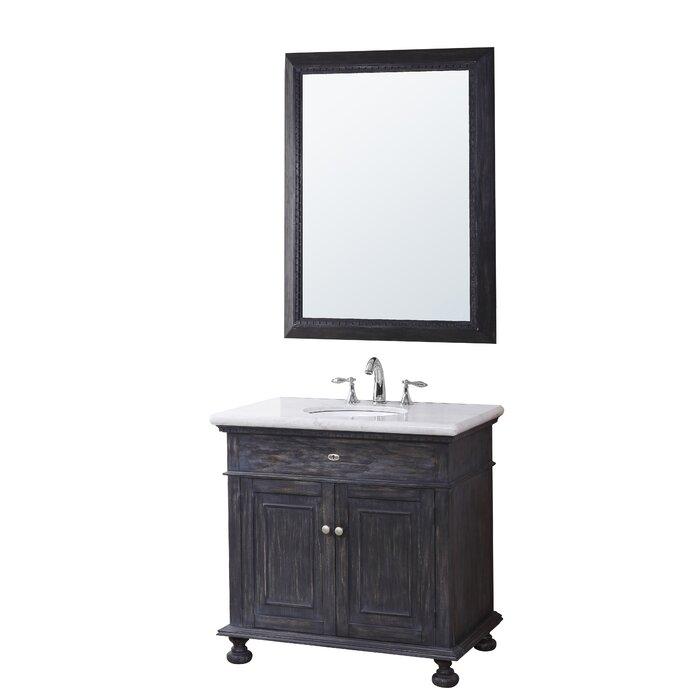 Franklin 35 Bathroom Vanity Set With Mirror