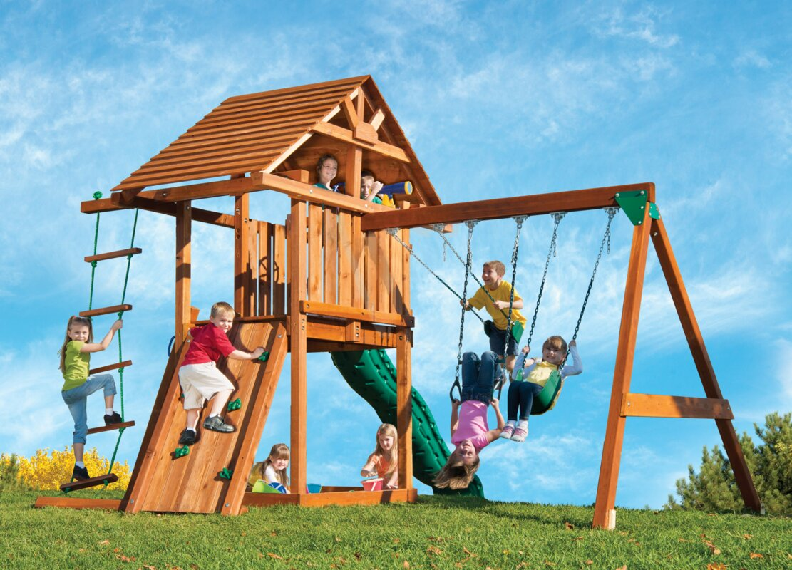 kids outdoor playsets wayfair