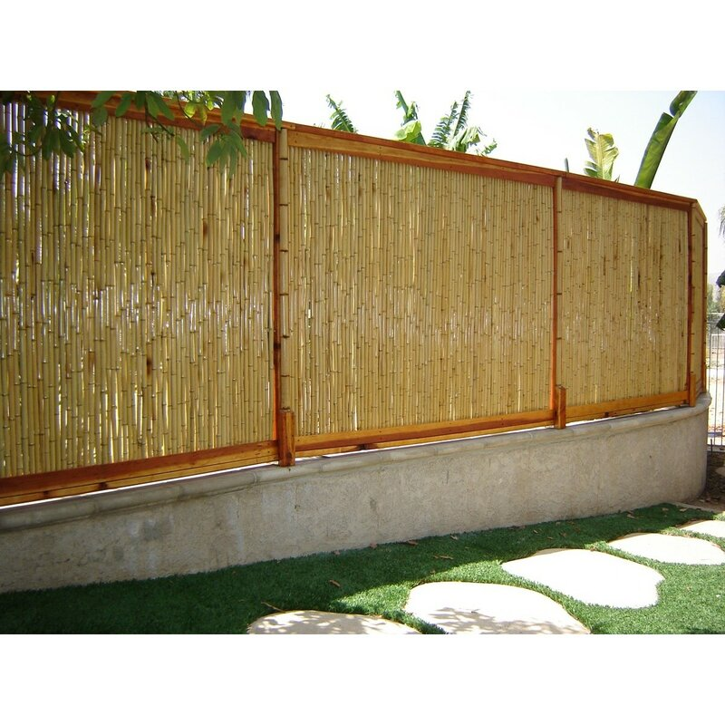 W Rolled Bamboo Fence Panel Reviews Wayfair