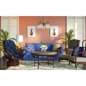 Maren Flowering Fern Ivory/Green Indoor/Outdoor Area Rug