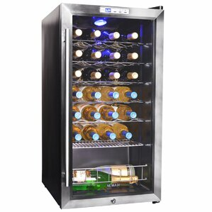 27 Bottle Single Zone Freestanding Wine Cooler by NewAir