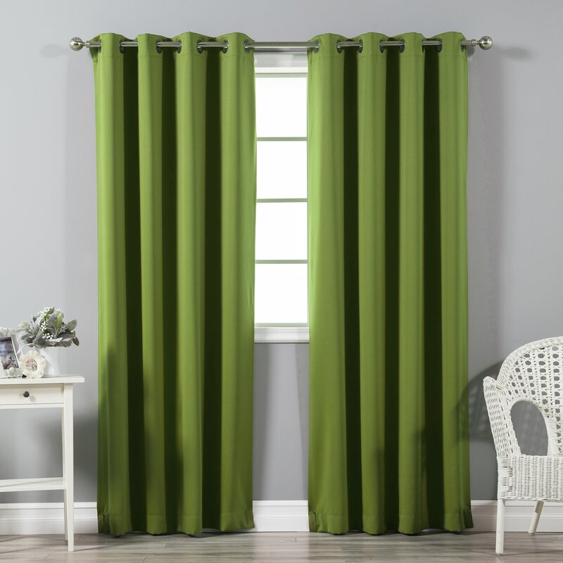 default_name - Best Home Fashion, Inc. Solid Blackout Thermal Grommet Curtain