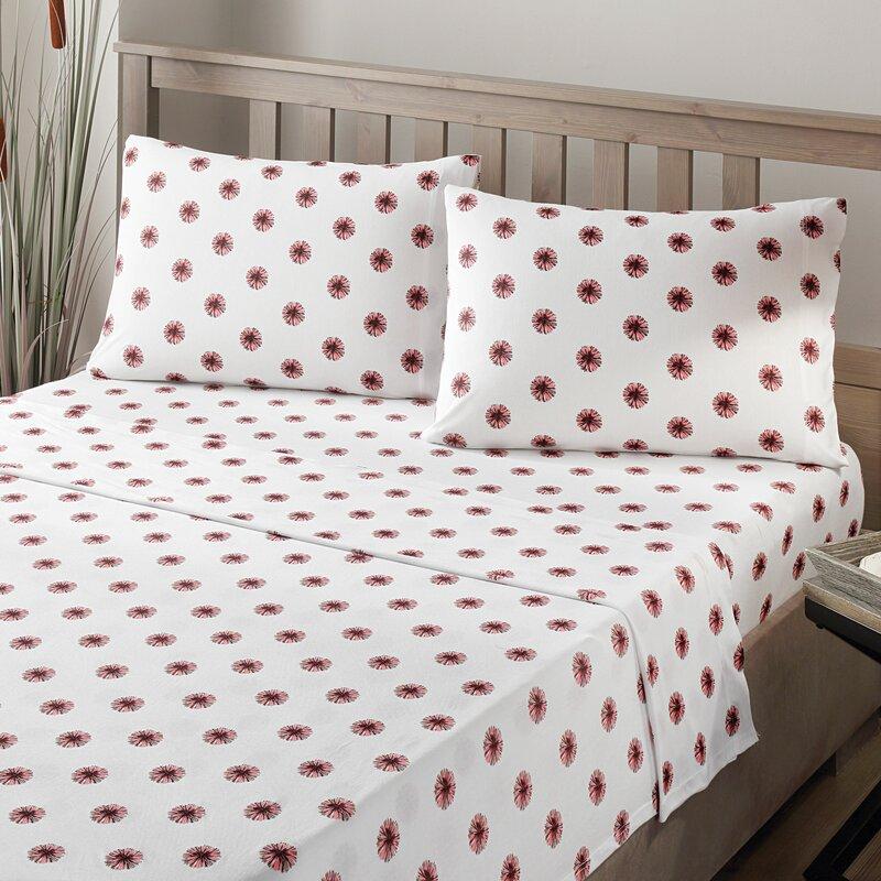 Brielle Pom Pom 100% Printed Cotton Jersey Sheet Set   Wayfair