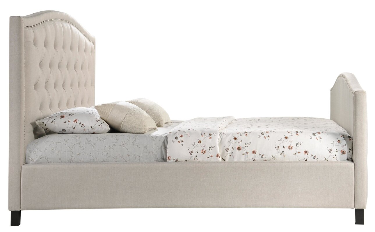Norman King Upholstered Panel Bed Amp Reviews Joss Amp Main