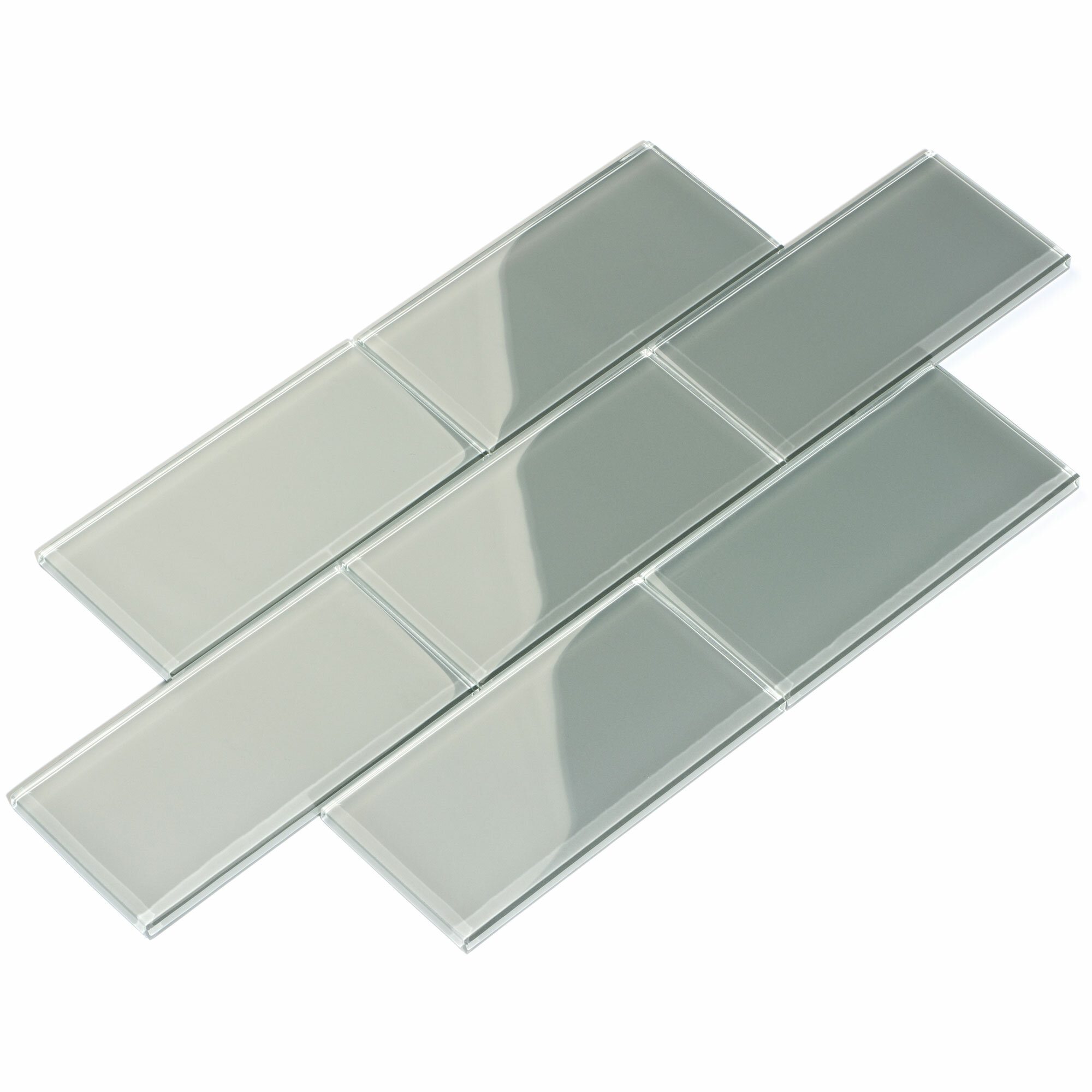 Giorbello 3 X 6 Glass Subway Tile In Gray Reviews Wayfair