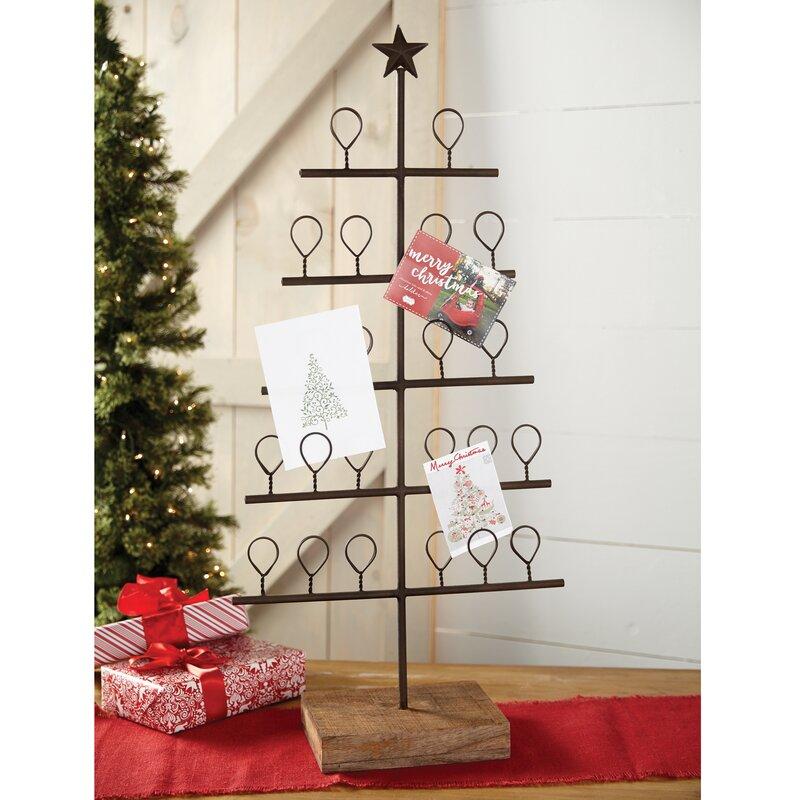 Mud Pie™ Metal Christmas Tree Card Holder & Reviews | Wayfair