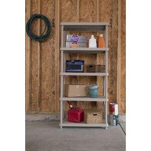 Freestanding Plastic Storage 72 H Five Shelf Shelving Rack Unit