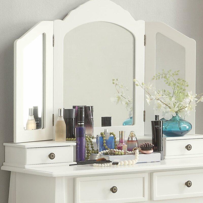 Superieur Cargo Wooden Vanity Set With Mirror