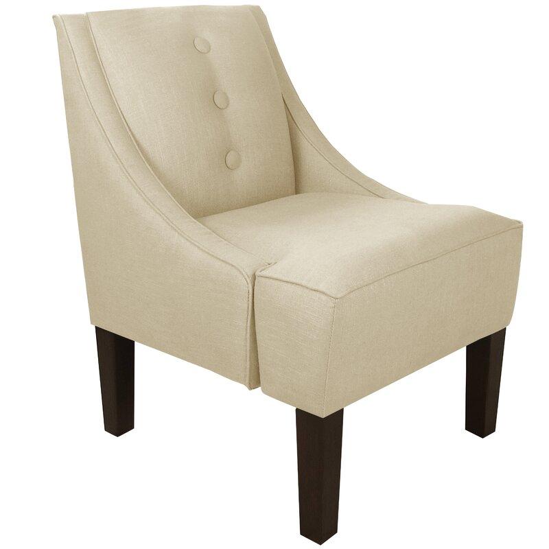 Moorcroft Linen Swoop Armchair