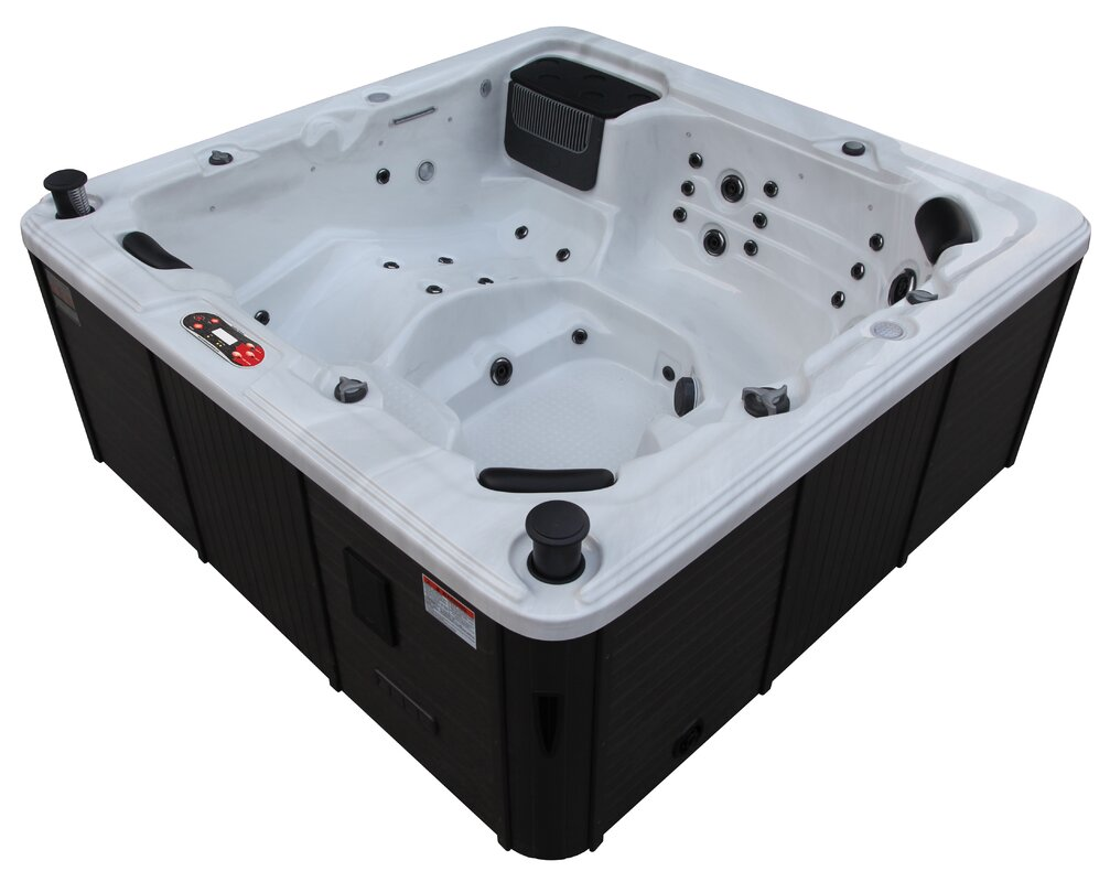 Canadian Spa Co Toronto 6-Person 44-Jet Spa with Waterfall ...