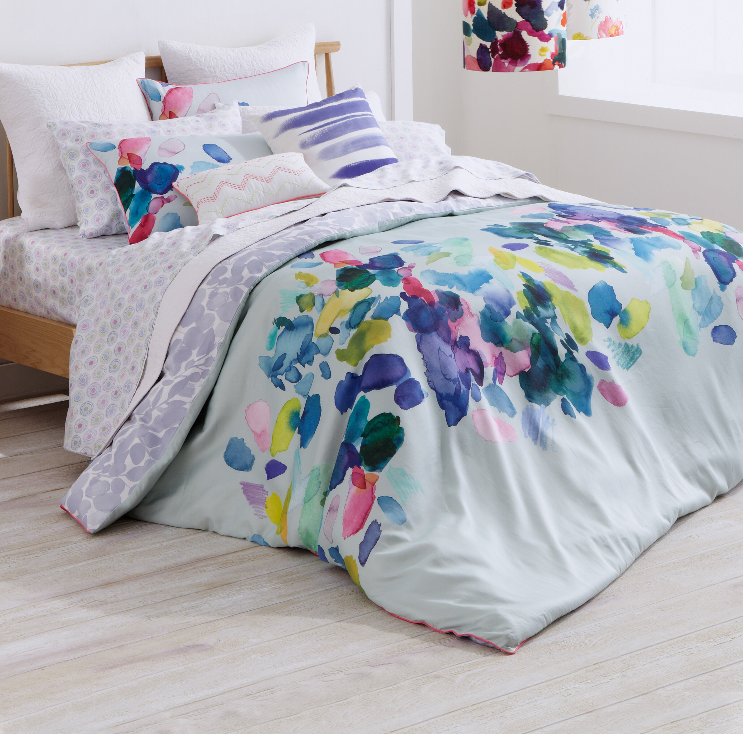 Bluebellgray Palette 100% Cotton Bedding Set U0026 Reviews | Wayfair
