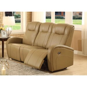 Lance Power Leather Reclining Sofa by Latitude Run