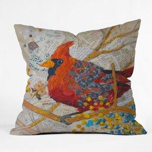 Elizabeth St Hilaire Nelson Cardinal Throw Pillow