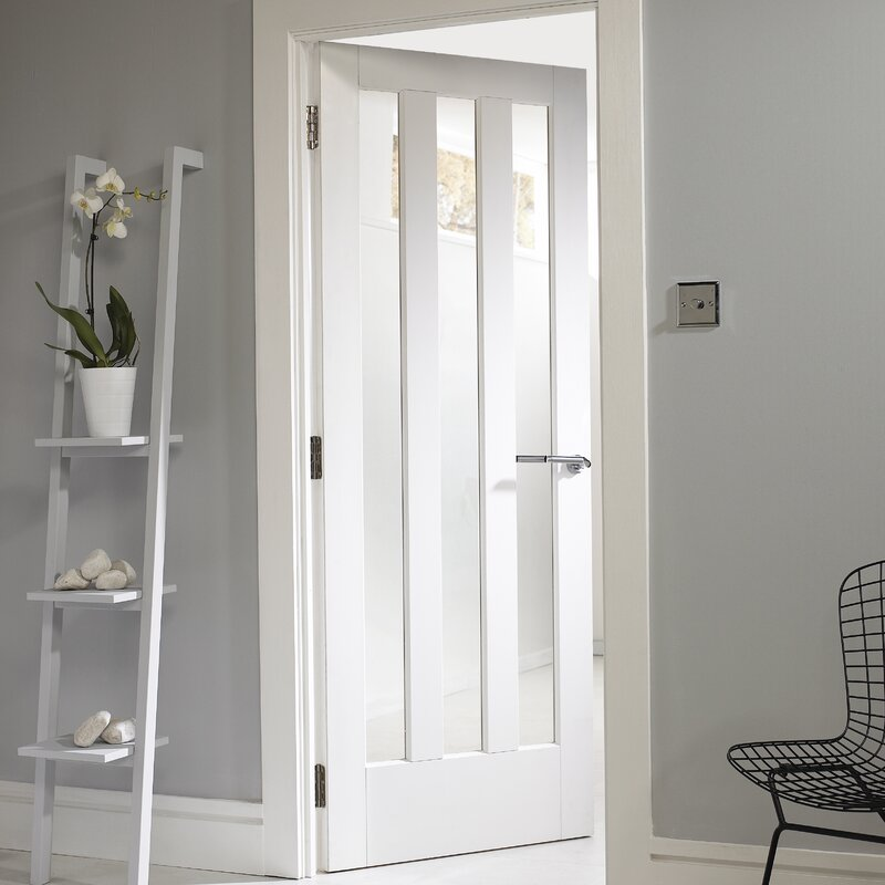 Jeld Wen Aston Solid Mdf Glazed Slab Internal Door