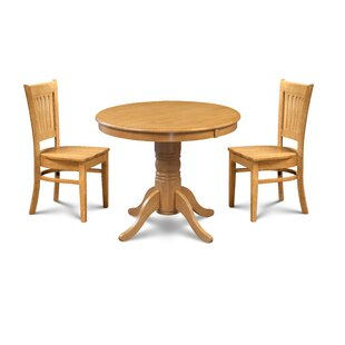 Pedersen 3 Piece Breakfast Nook Dining Set