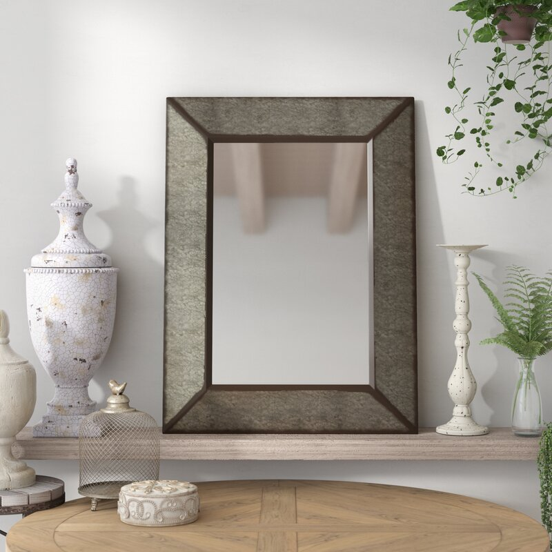 Rectangle Antique Galvanized Metal Accent Mirror Amp Reviews