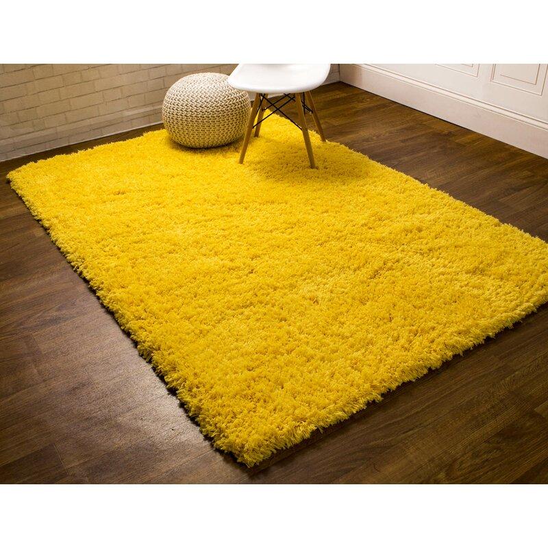 Ambriz Microfiber Ultra Soft Light Yellow Area Rug