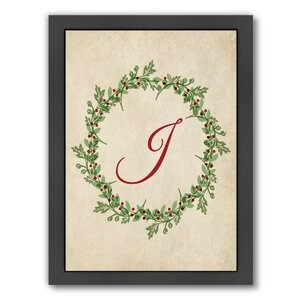 Christmas Wreath J Framed Graphic Art