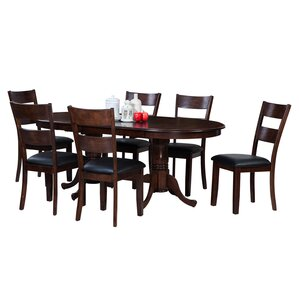 Doretha 7 Piece Wood Dining Set by Darby Home Co