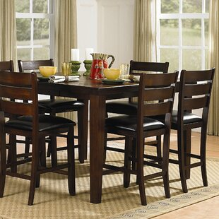 bannister counter height table - Square Dining Room Table Sets