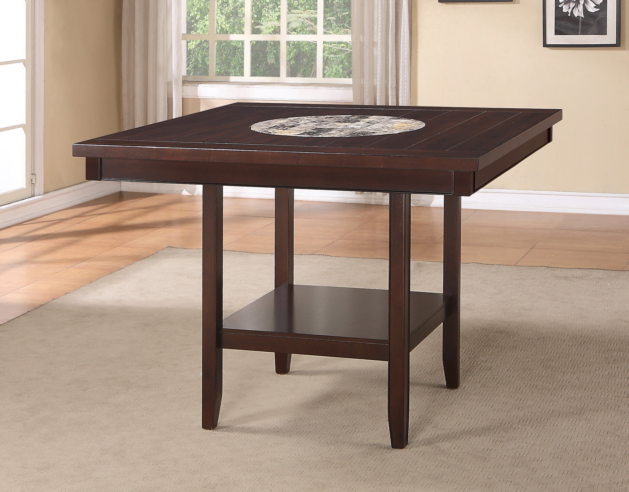 Crown Mark Fulton Counter Height Dining Table | Wayfair