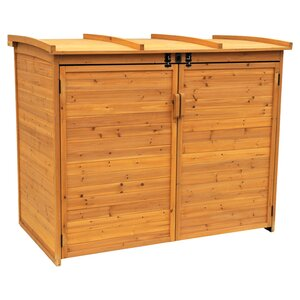 Refuge 5 ft. 6 in. W x 3 ft. 2 in. D Wooden Horizontal Garbage Shed