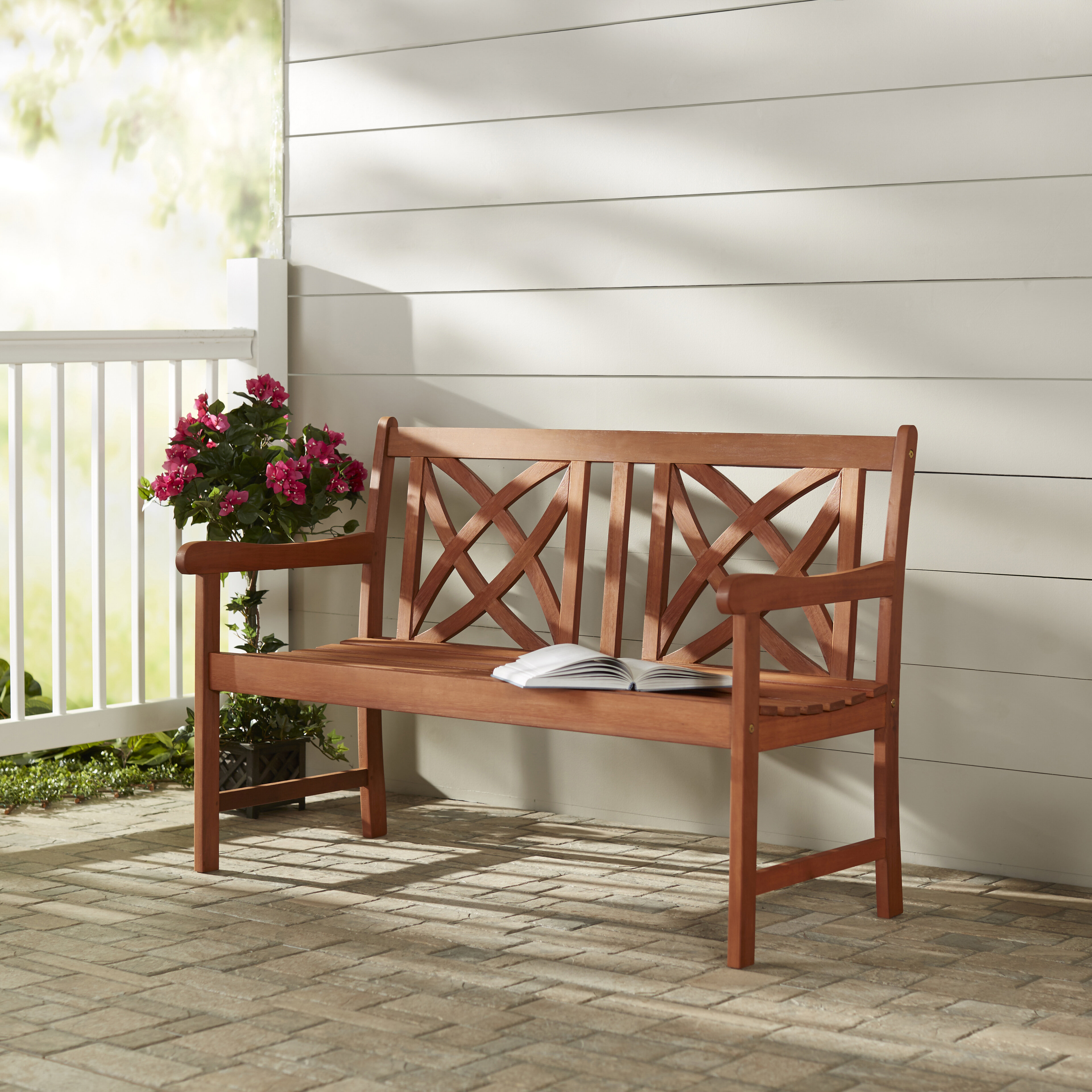 Charlton Home Blakeslee Wood Garden Bench & Reviews | Wayfair