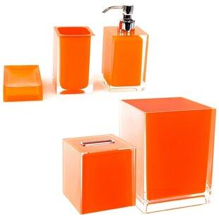 Ensembles d\'accessoires pour salle de bain: Finition - Orange ...