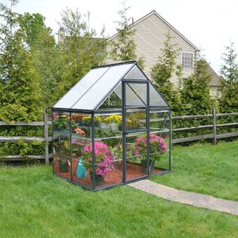 Palram Hybrid 6 Ft  W x 4 5 Ft  D Polycarbonate Greenhouse