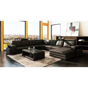Russet Reclining Sectional by Wade Logan