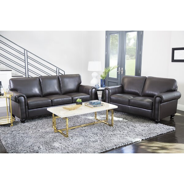 Next Furniture Living Room: Darby Home Co Coggins Leather 2 Piece Living Room Set