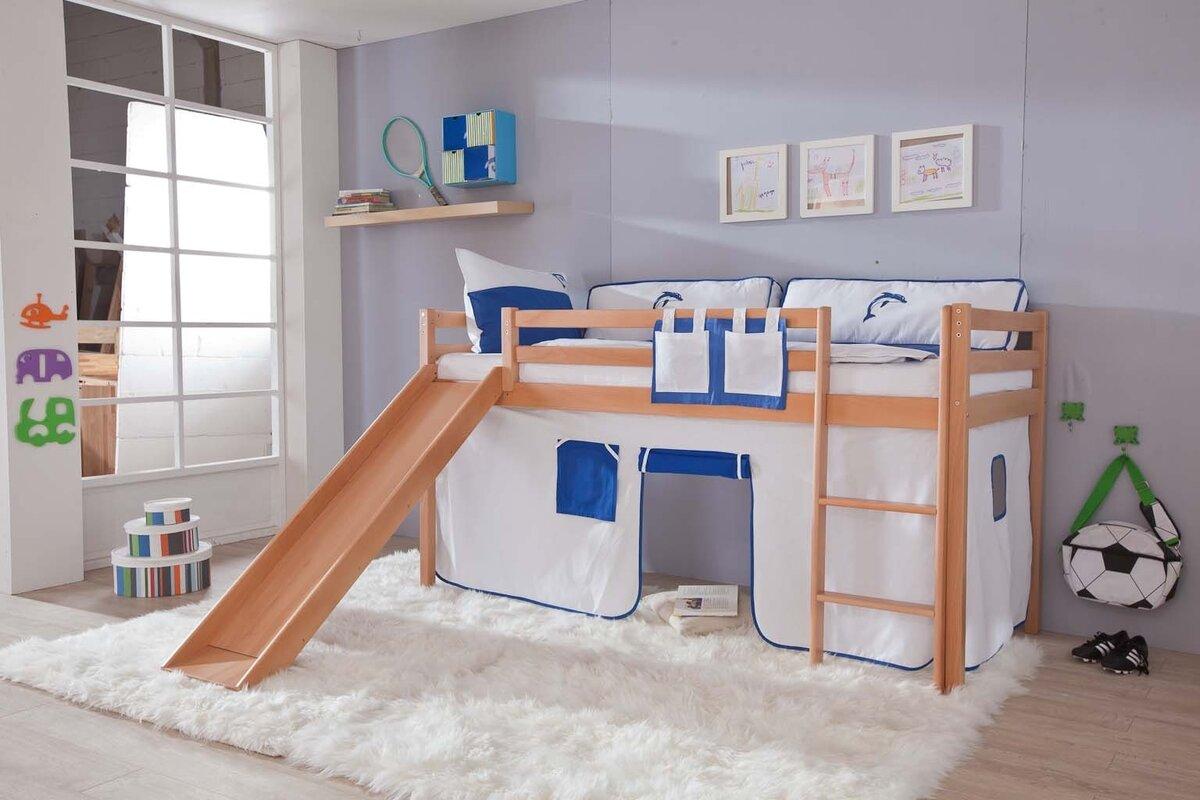 relita halbhochbett toby mit rutsche 90 x 200 cm bewertungen. Black Bedroom Furniture Sets. Home Design Ideas