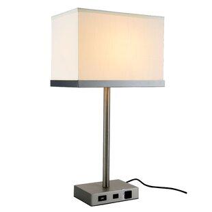 usb table lamp charging station georgene 26 modern builtin usb port table lamps allmodern