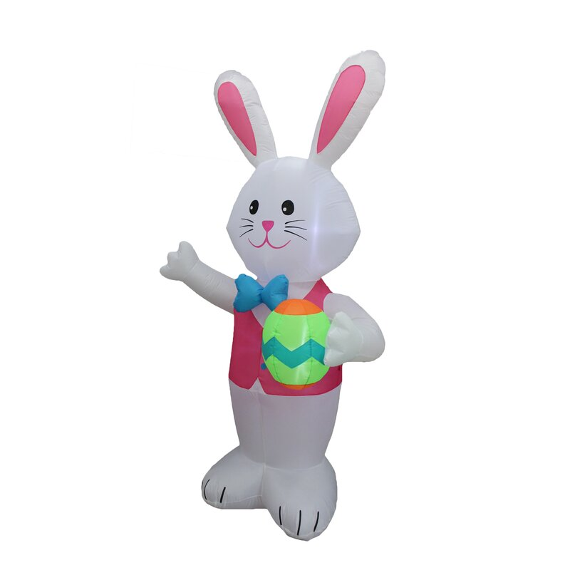 Easter Inflatable Bunny Rabbit Carrot Car Lawn Spring Indoor Outdoor