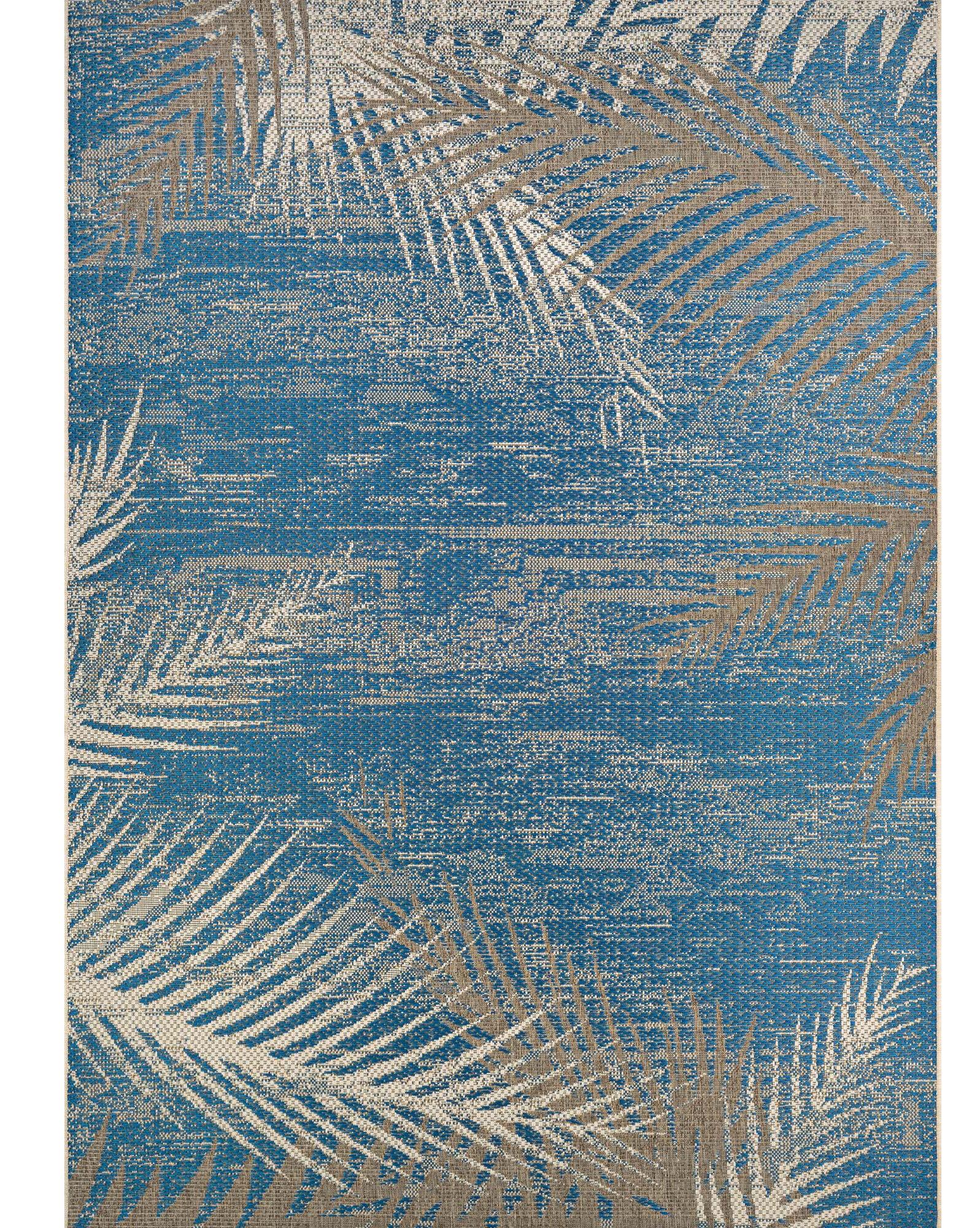 Beachcrest Home Odilia Tropical Palms Blue Gray Beige Indoor Outdoor Area Rug Reviews Wayfair