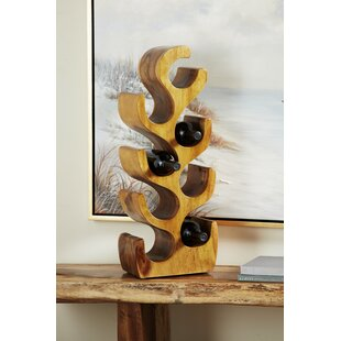 Engelke Natural Acacia Wood Tabletop Wine Bottle Rack