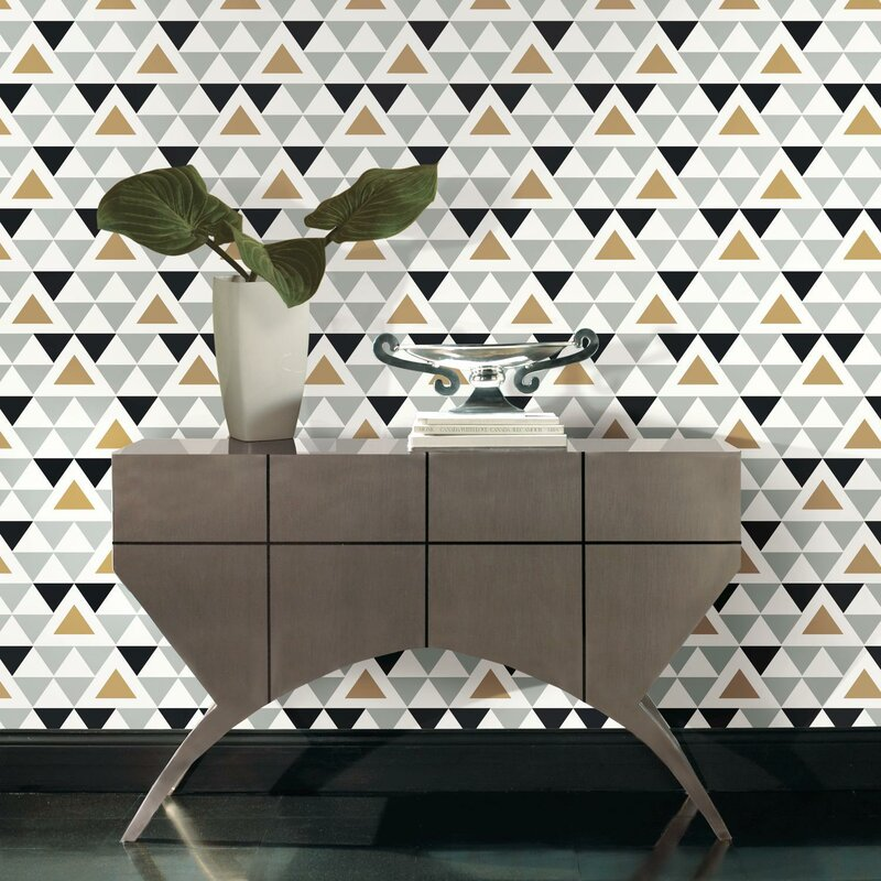 Rodden Triangle 16 5 L X 20 W Geometric And Stick Wallpaper Roll