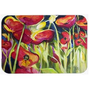 Poppies Kitchen Bath Mat
